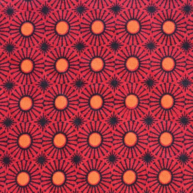 Presence of Africa | Shweshwe Fabric Red and Charcoal