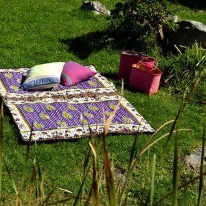 picnic blanket, kitenge, padded