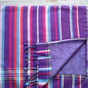 cotton kikoy beach towel pink purple