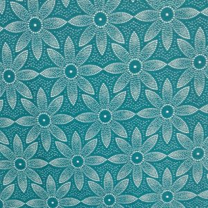 PICNIC BLANKET shweshwe cotton fabric turquoise