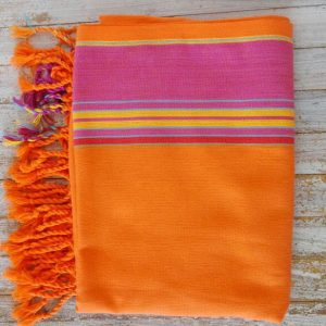 kikoy sarong orange beach