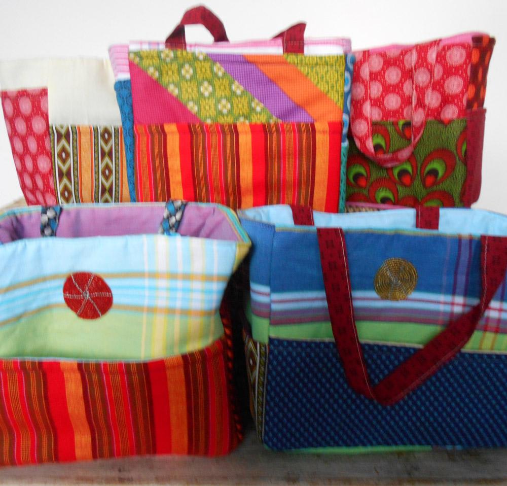 beach bags, sling bags, shopping bags,