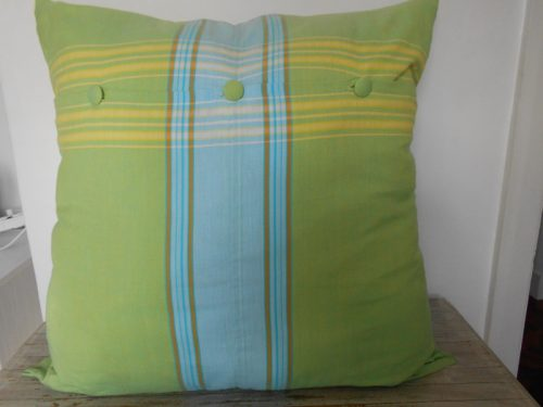 continental cushion cover, lime green