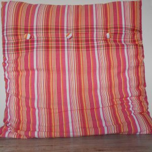 continental cushion cover, red stripes