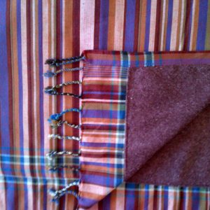 kikoy beach towel brown and purple stripes