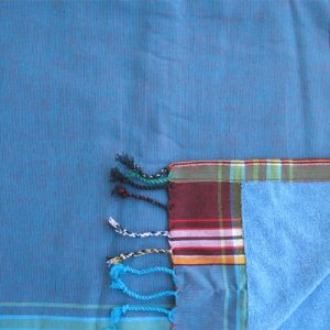 kikoy towel, irridescent blue