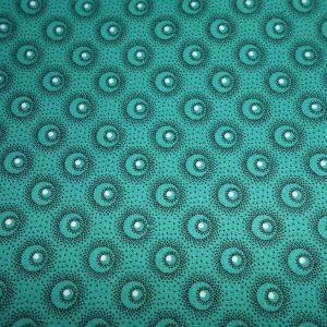Picnic blanket turquoise shweshwe cotton