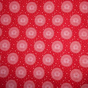 Picnic blanket, red, shweshwe cotton, padded, waterproof lining