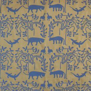 picnic blanket, khoisan design cotton fabric, waterproof lining, padded