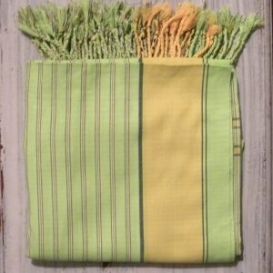 kikoy beach wrap lime green with stripes