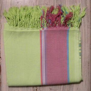 kikoy beach wrap, lime
