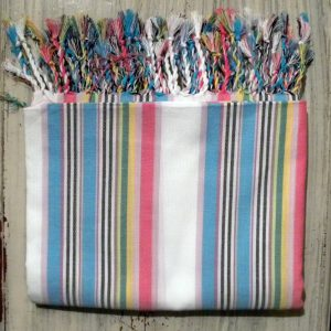 kikoy beach wrap, cotton, stripes