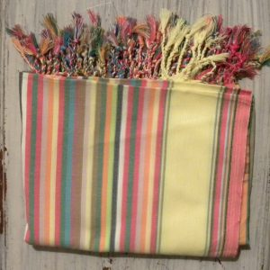 beach wrap, kikoy, soft stripes