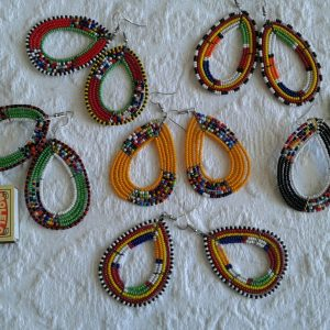 traditional maasai bead earrings, masai bead earrings