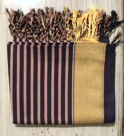 kikoy wrap navy and old gold