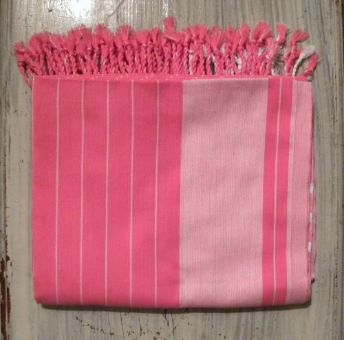 kikoy beach wrap pink