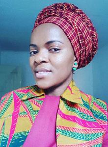 andiswa in masai shuka headscarf
