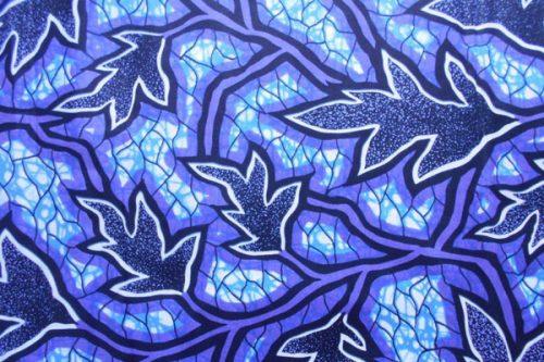 headscarves, doeks, blue leaf pattern