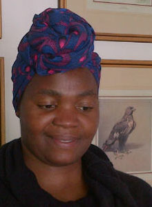 headscarf, doek in blue