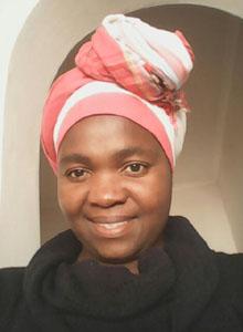 african headscarf, headdress, pink amd white kikoy