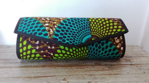 clutch bag, african print fabric