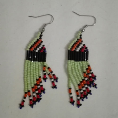 african bead earrings