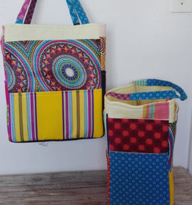 fabric picnic bags, beach bags