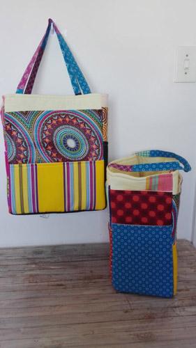 fabric picnic bags, beach bags