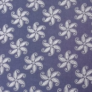 PICNIC BLANKET shweshwe cotton fabric blue starfish desigN