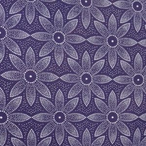 shweshwe indigo with daisy pattern