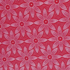 PICNIC BLANKET SHWESHWE FABRIC RED WITH FLOWERS