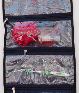 see-through inside cosmetic bags, toiletry bags