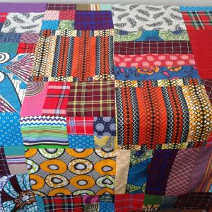 Patchwork picnic blanket, padded, waterproof