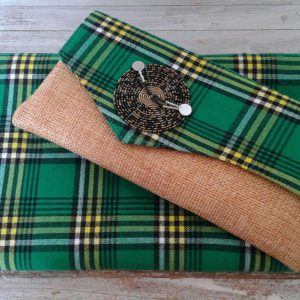 shuka clutch bag and headscarf combination