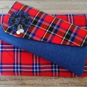 clutch bag and doek combo red shuka