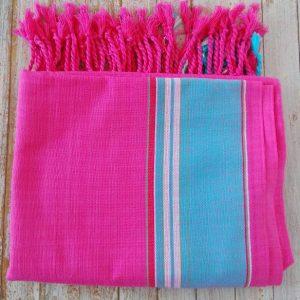 beach kikoy sarong pink