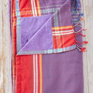 purple kikoy beach towel