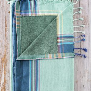 kikoy towel blue